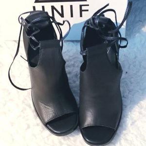 Brand New UNIF '94 Heel, BLACK, size 7